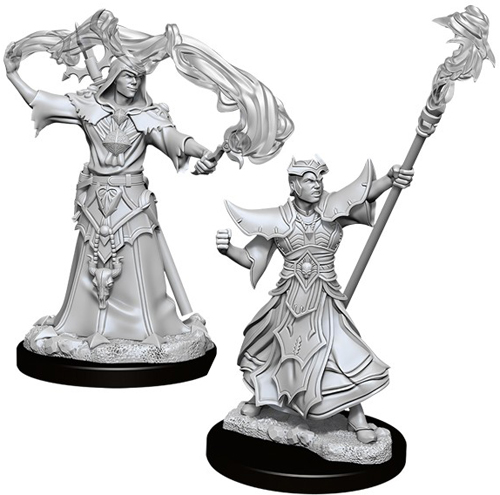 Pathfinder Deep Cuts Unpainted Miniatures: W11 Male Elf Magus (Magic User)