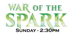 Sunday April 28th Afternoon 2:30pm Prerelease - WAR