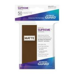 SUPREME UX SLEEVES STANDARD SIZE MATTE BROWN (50)
