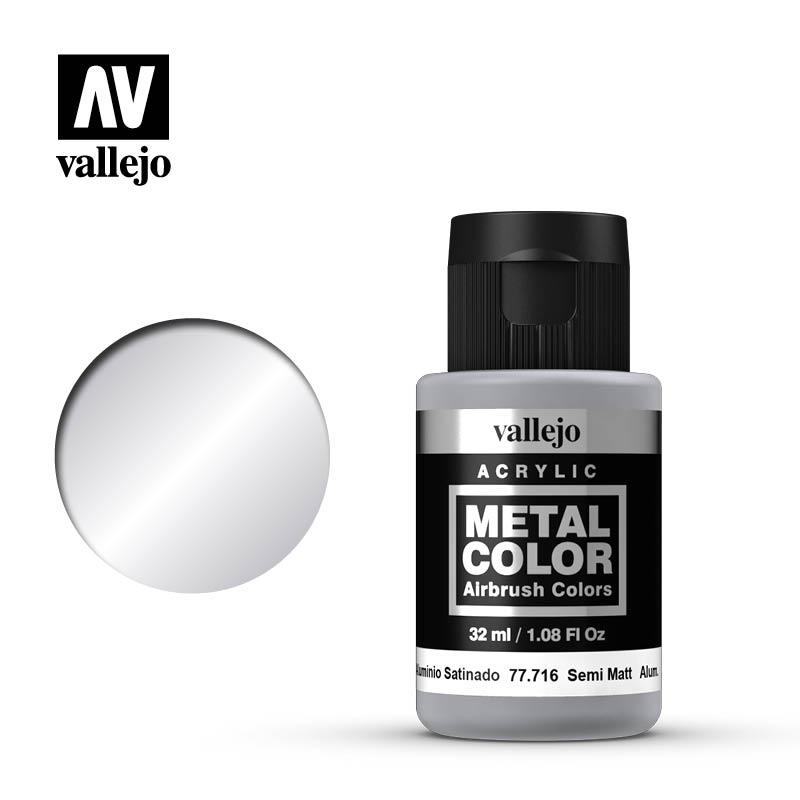 Vallejo Acrylic - Metal Color - Semi Matte Aluminium