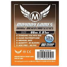 Mayday Games Sleeves Standard Orange Backed 66 mm x 91 mm (80 ct)