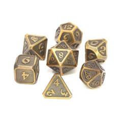 Mythica Battleworn Gold - 7 dice set