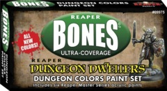 Master Series Paints Bones Ultra-Coverage Dungeon Dwellers Paint Set: Dungeon Colors