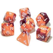 CHX 30021 - Gemini Orange-Purple/white 7-die set