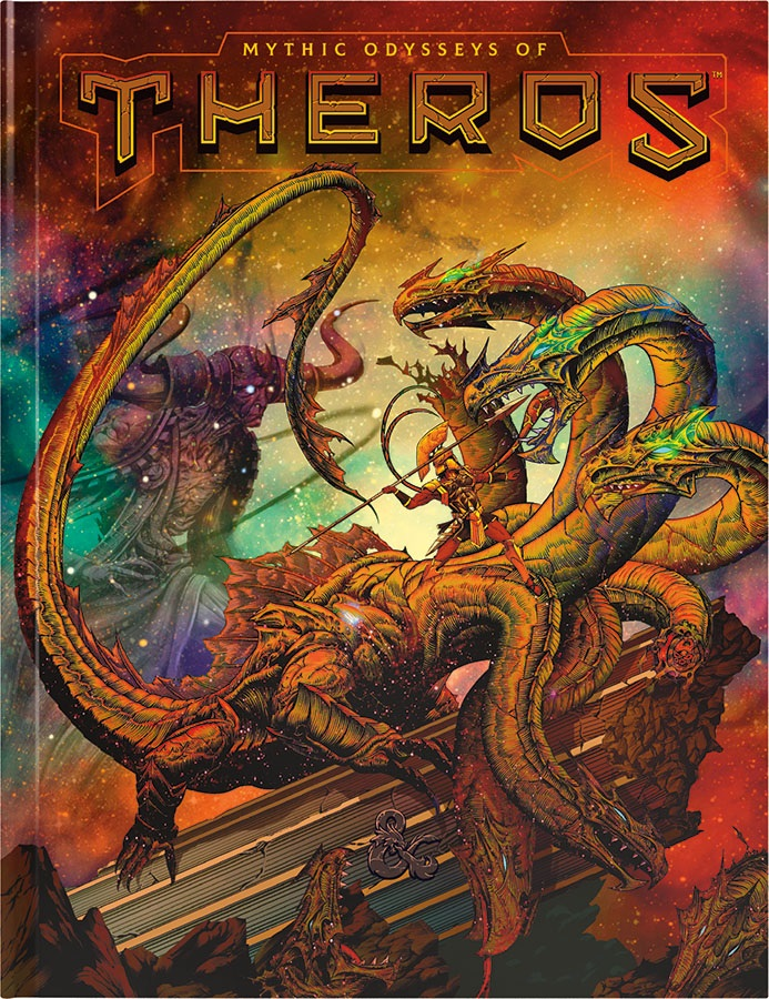Dungeons and Dragons RPG: Mythic Odysseys of Theros Hard Cover - Alternate Cover