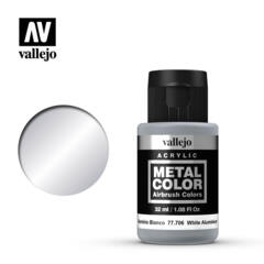 Vallejo Acrylic - Metal Color - White Aluminium