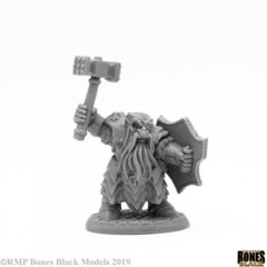 Reaper Bones Black: Dark Dwarf Striker