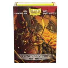 Dragon Shield Sleeves: Matte Art General Vicar: Portrait (Box of 100) - Limited Edition