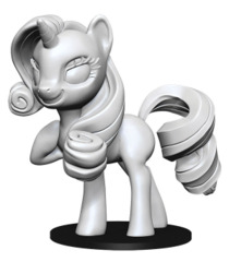 My Little Pony Deep Cuts Unpainted Miniatures: Rarity