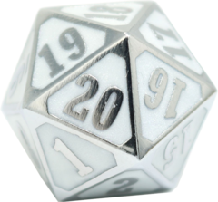 MTG Roll Down Counter - Shiny Silver w/ White