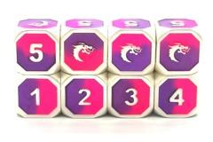Dragon Forged D6 Set - Platinum Purple & Pink