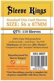 Sleeve Kings Card Sleeves: 56 x 87 mm 110 count