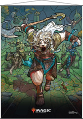 Magic the Gathering: Stained Glass Wall Scroll - Ajani