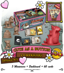 Munchkin Dungeon: Cute as a Button (Plus Cute as a Button Bookmark)