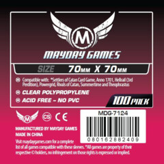 Mayday Games Sleeves 70 mm x 70 mm (100 ct)
