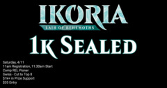 Ikoria 1k Sealed Release Party - Saturday April 25th 11am