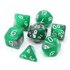 Emerald Ore - RPG Dice Set
