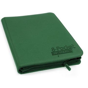 Ultimate Guard - 8-Pocket Zipfolio Xenoskin - Green