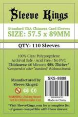 Sleeve Kings Card Sleeves: 57.5 x 89 mm 110 count