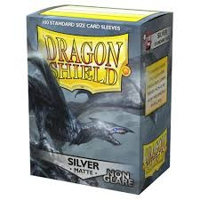 Dragon Shield Matte: Non-Glare Sleeves - Silver