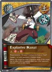 Explosive Kunai - J-707 - Uncommon - 1st Edition -  Foil