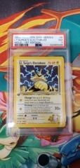 Pokemon Gym Heroes Lt.Surges Electabuzz 1st Edition PSA 7