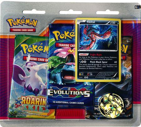 Pokemon XY Yveltal 3-Pack Blister Pack