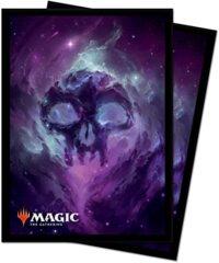 Ultra Pro  Magic The Gathering-Standard Deck Protectors Sleeves 100 Pack-Celestial, Swamp, Black/Black