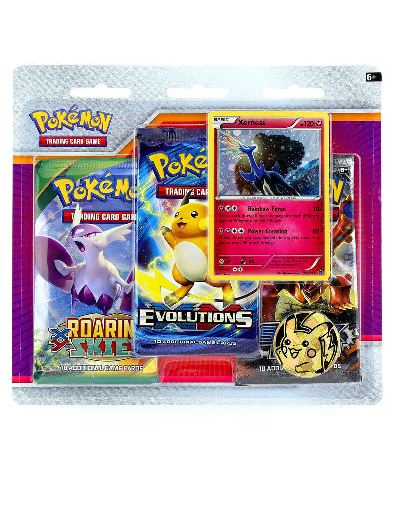 Pokemon XY Xerneas 3-Pack Blister Pack