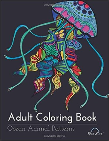 Adult Coloring Book Ocean Animals