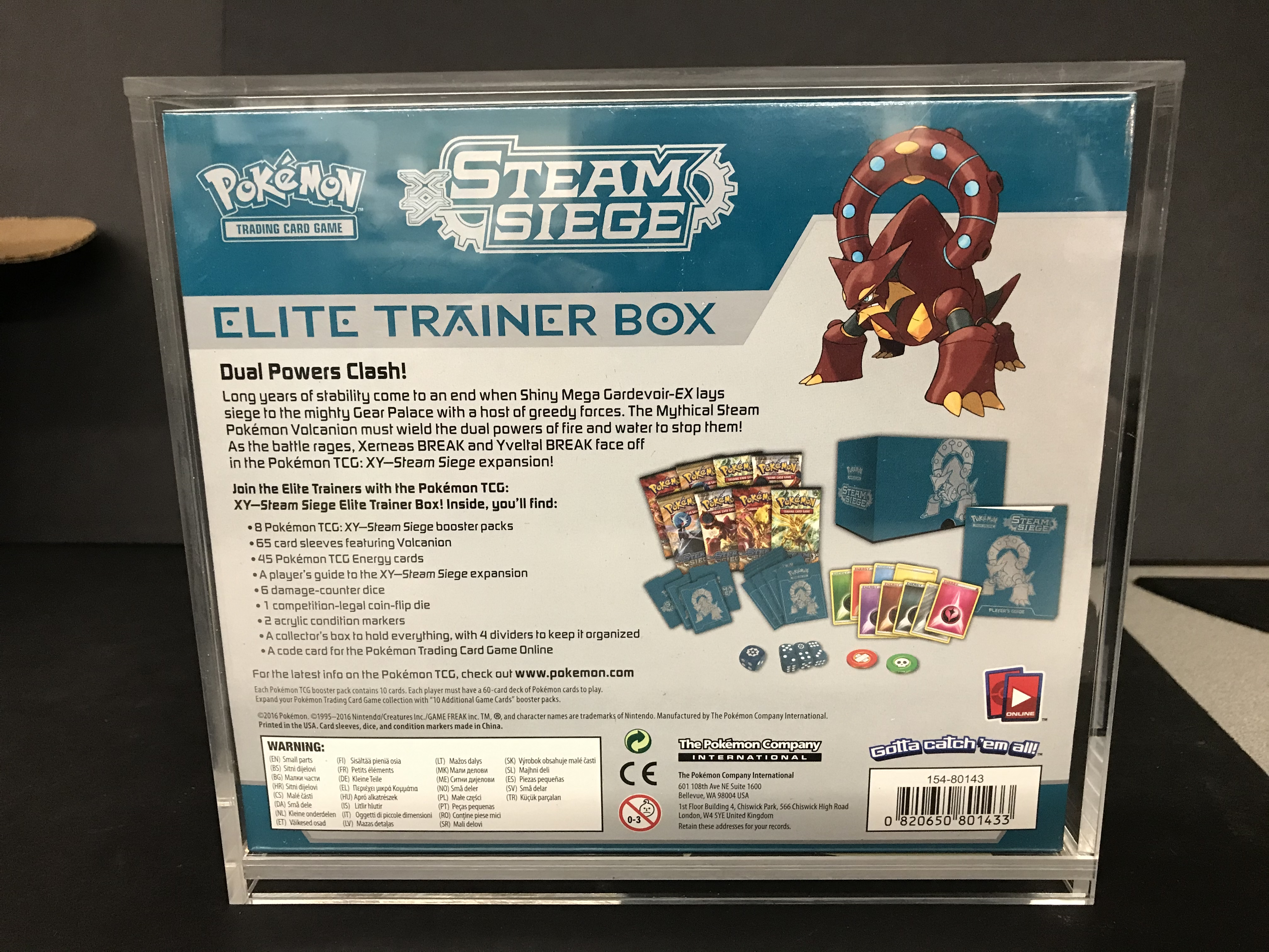 Pokemon 5x Acrylic Elite Trainer Display Guard (60026)