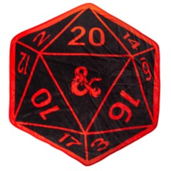 Dungeons and Dragons D20 Fleece Throw Blanket NEW
