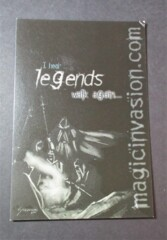 MTG Invasions Postcard (Black) Legends
