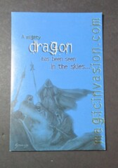 MTG Invasions Postcard (Blue) Dragon