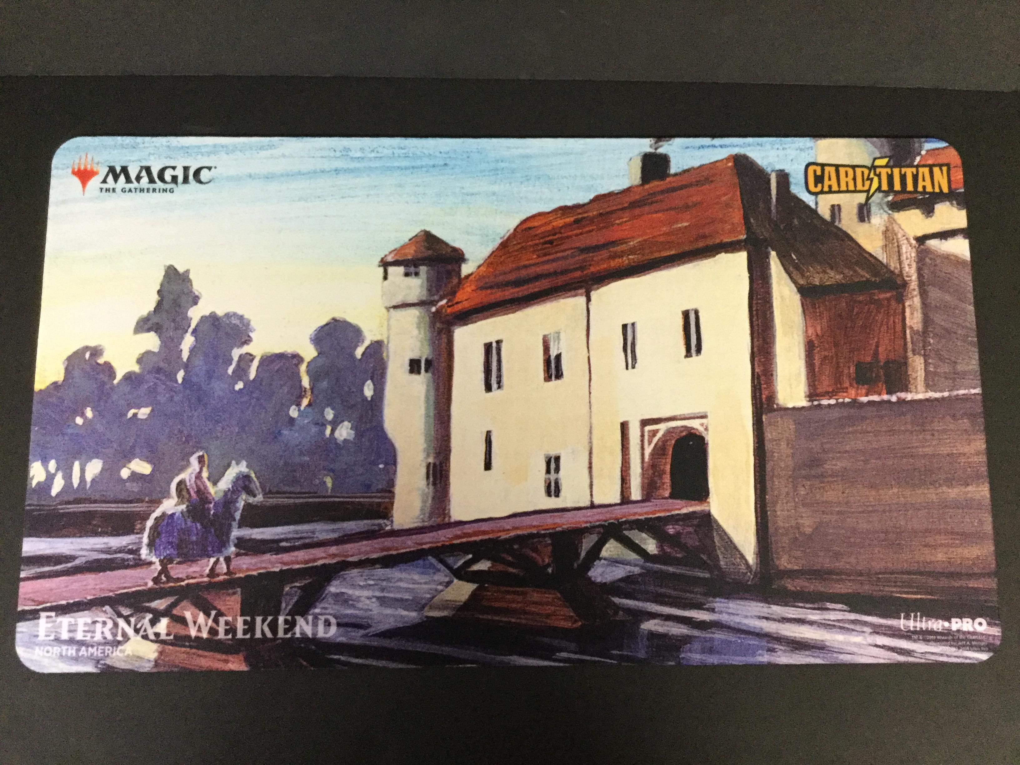 Eternal Weekend Moat Playmat NEW Magic MTG
