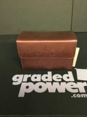 Ultra Pro Dual Flip Box Maroon Mana Symbols (Matte Leatherette Finish) NEW
