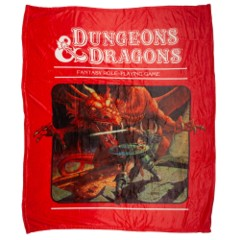Dungeons and Dragons Fleece Throw Blanket NEW