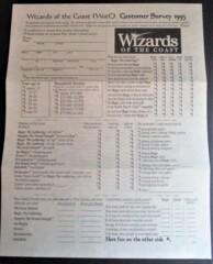 Wizards of the Coast Survey w/ Envelope