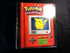 Nintendo Pikachu Meowth 3 Ring Binder 2 Inches Wide