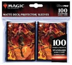 100 Count Matte Deck Protector Sleeves - Zariel