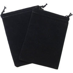 Black Velour Dice Pouch (small)