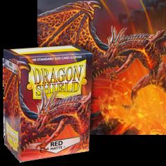 Dragon Shield: (100) Matte Red
