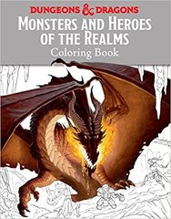 D&D Monsters & Heroes of the Realms Coloring Book