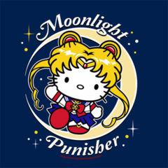 T-Shirt Moonlight Punisher Ladies V-Neck