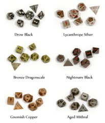 Norse Foundry: Mini Pebble Dice - Lycanthrope Silver (7)