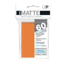 Small PRO-Matte Deck Protector sleeves (60 ct.) Orange