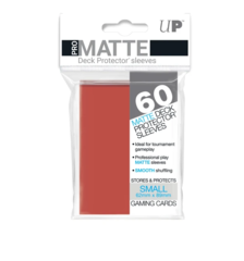 Small PRO-Matte Deck Protector sleeves (60 ct.) Red