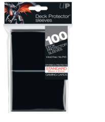Ultra Pro Standard Size Deck Protector sleeves 100 ct black
