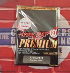 Hyper Mat Premium black Sleeves - KMC Card Barrier Hyper Mat Sleeves (80 ct.)