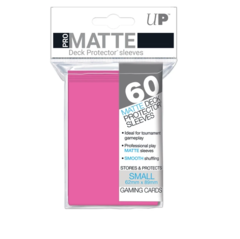 Small PRO-Matte Deck Protector sleeves (60 ct.) Bright Pink